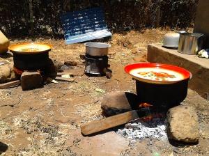 Kochen offenes Feuer